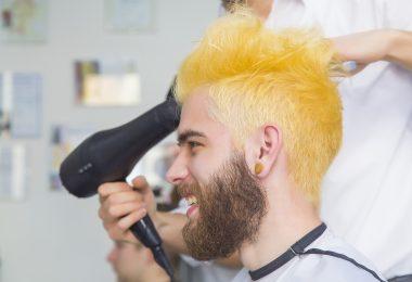 Man's Hair Bleached